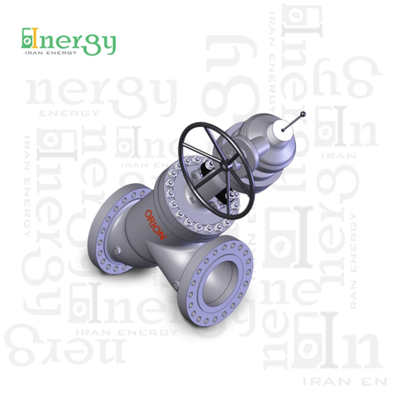شیر ساچمه ای گلوب ولو اوریون y pattern Globe valve