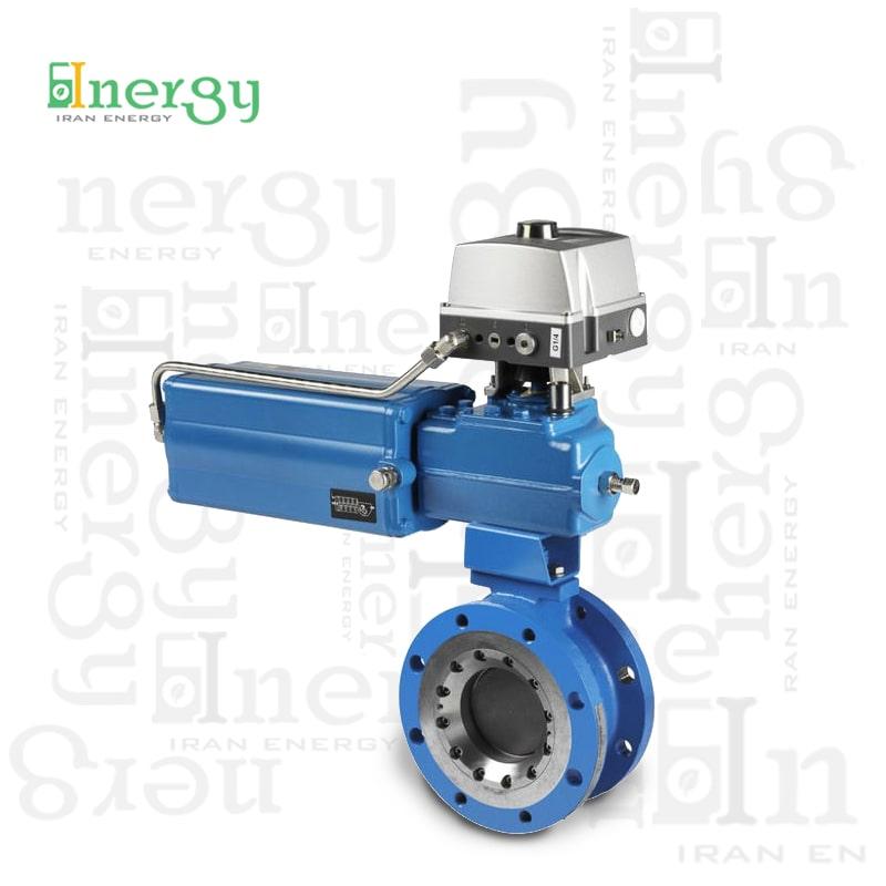 شیر کنترل روتاری چرخشی متسو metso rotary control valve