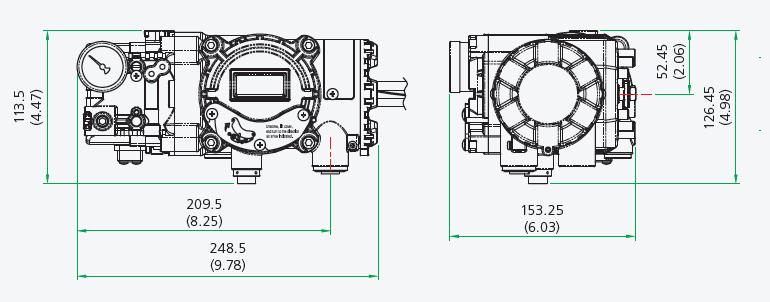 راهنمای ابعاد پوزیشنر rotork
