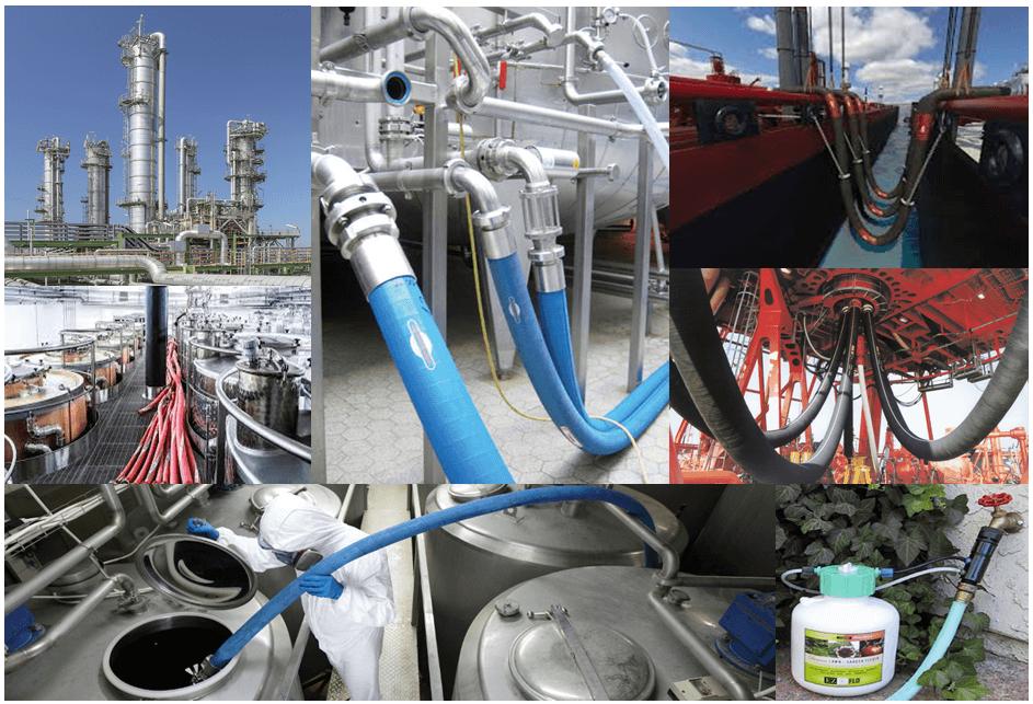 موارد استفاده شده شیلنگ های مواد شیمیایی صنعتی