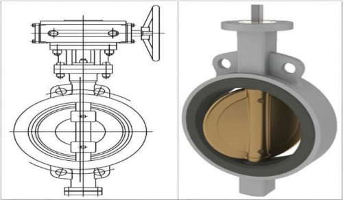 خرید شیر پروانه ای ویفری Wafer butterfly valve